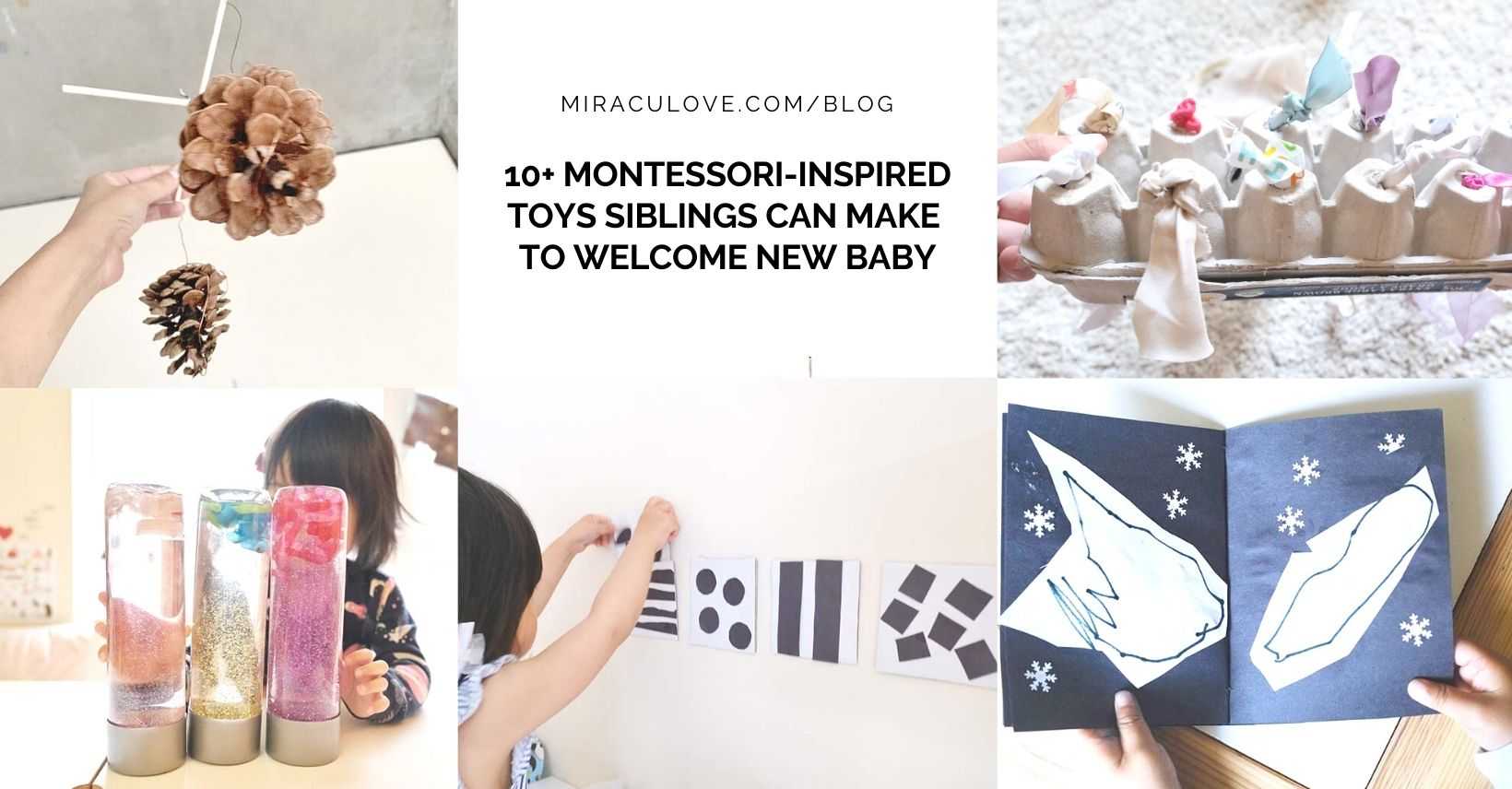 10+ Montessori-inspired Toys Siblings Can Make to Welcome New Baby