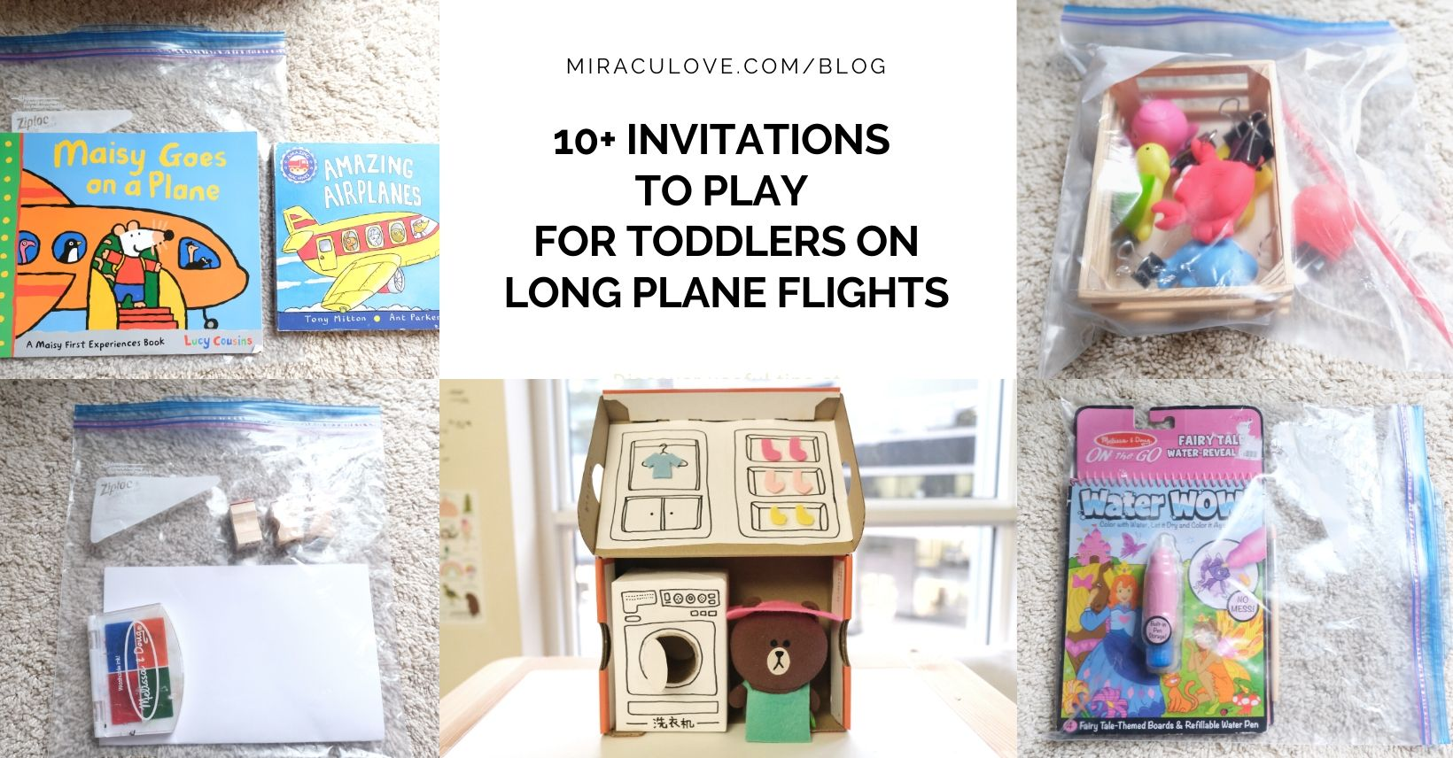 10+ Invitations to Play for Toddlers on Long Plane Flights