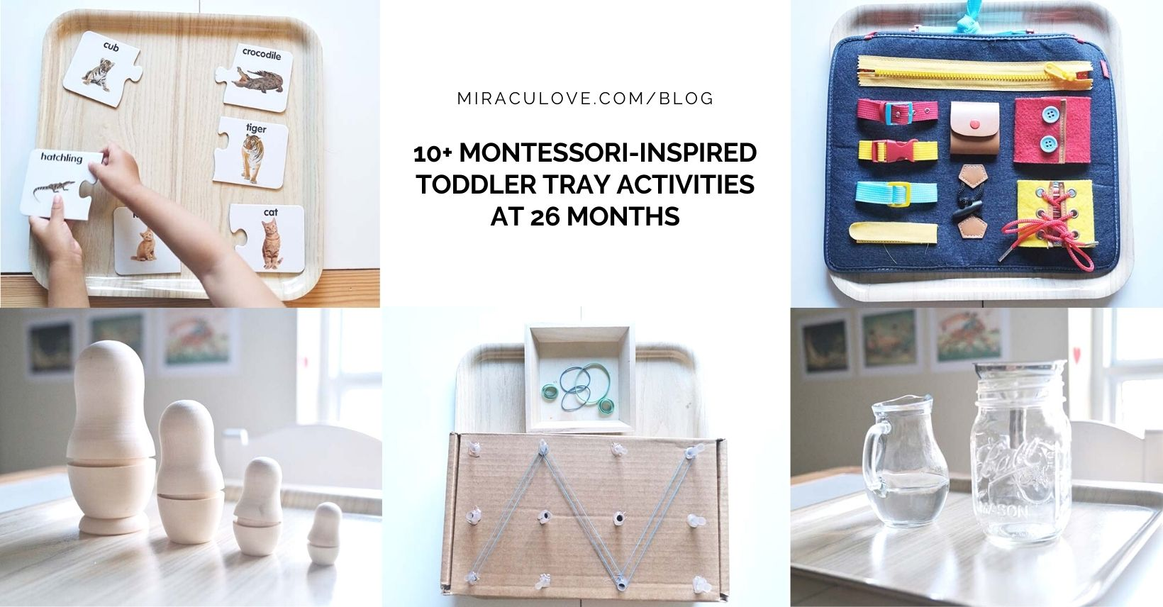 10+ Montessori-Inspired Toddler Tray Activities at 26 Months