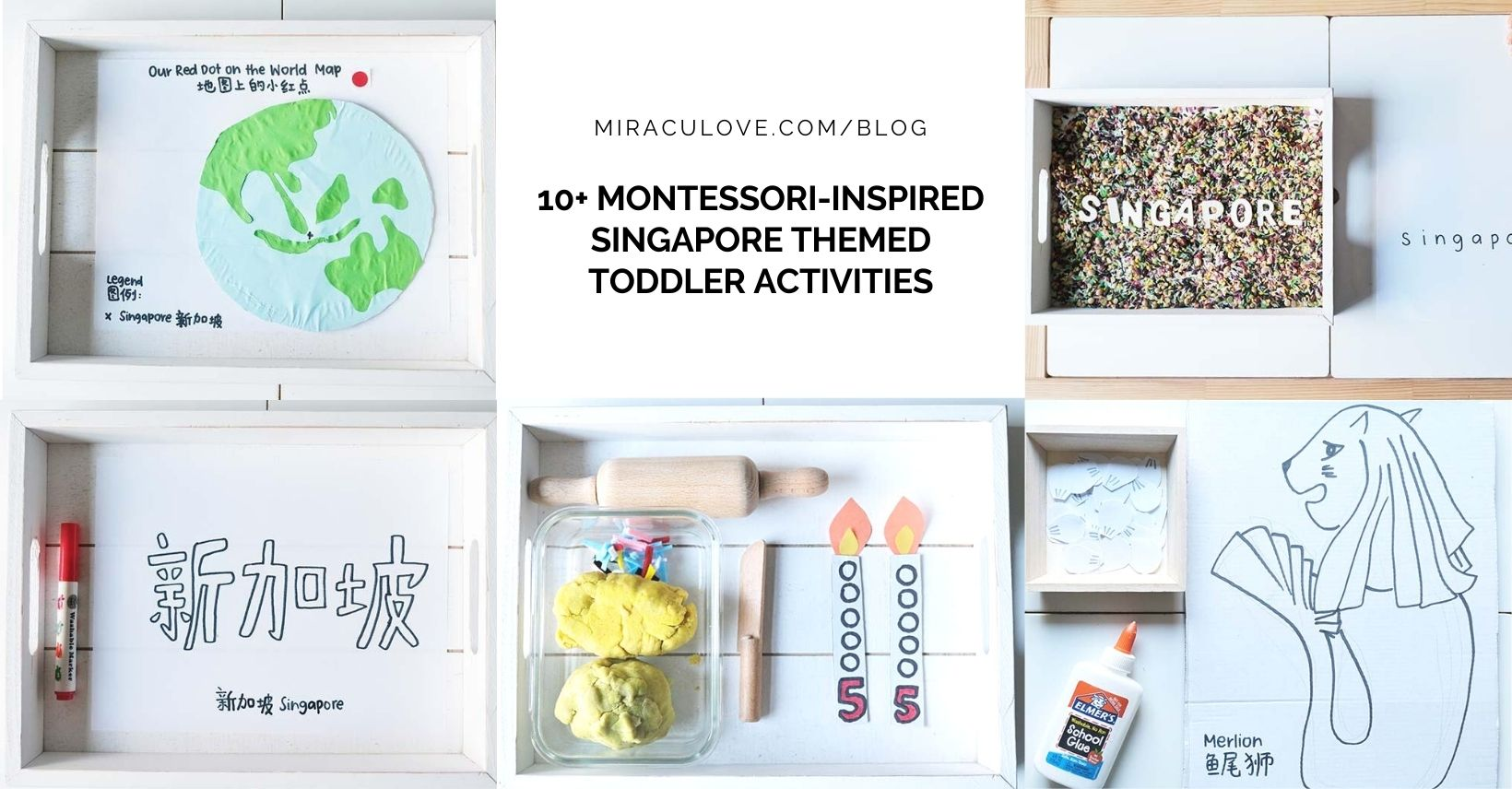 10+ Montessori-Inspired Singapore Themed Toddler Activities