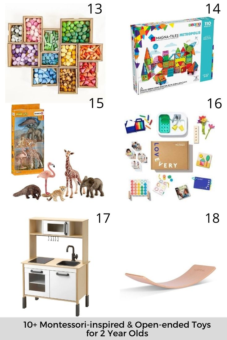 10+ Montessori-inspired & Open-ended Toys for 2 Year Olds