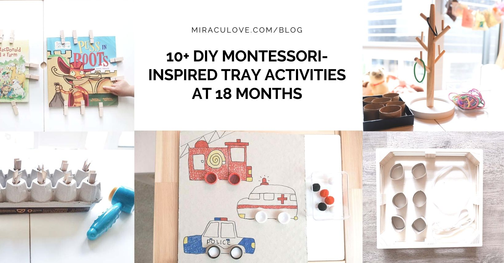 10+ DIY Montessori-inspired Tray Activities at 18 Months