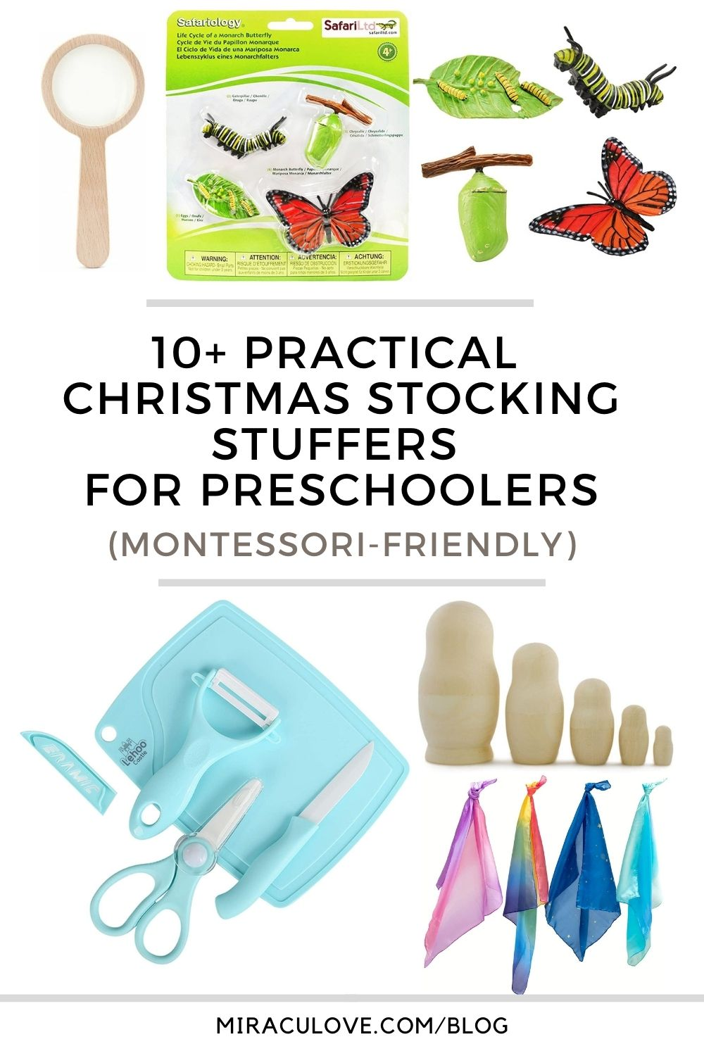 10+ Practical Christmas Stocking Stuffers for Babies, Toddlers & Preschoolers (Montessori-friendly)