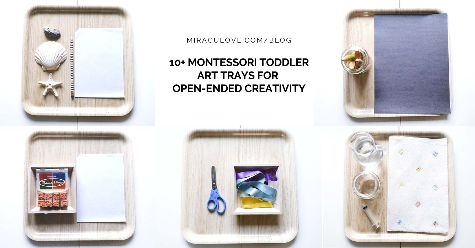 10+ Montessori Toddler Art Trays for Open-ended Creativity