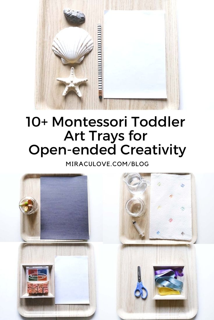 20+ Montessori Toddler Art Trays for Open-ended Creativity