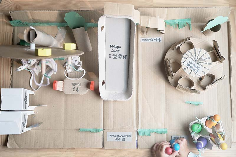 Amusement Park DIY Cardboard for Creative Small World Play