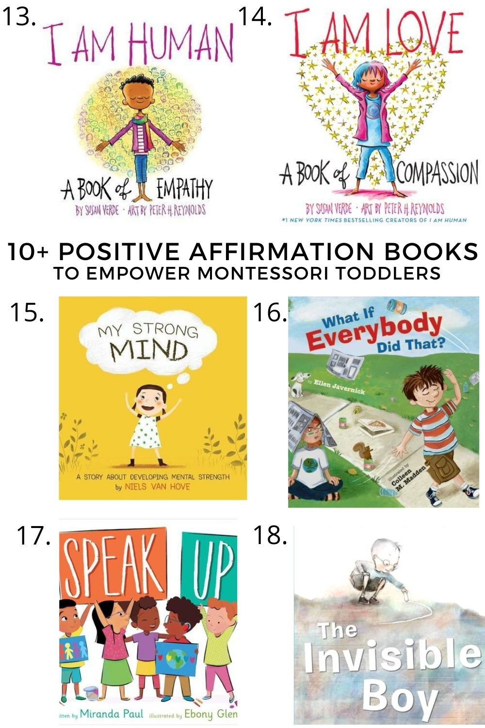 10+ Character Building Books for Montessori Toddlers to Learn Values