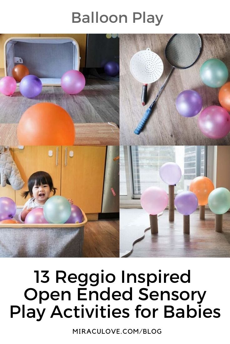 13 Reggio Inspired Open Ended Sensory Play Activities for Babies