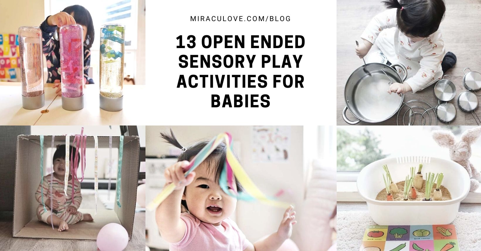 13 Open Ended Sensory Play Activities for Babies