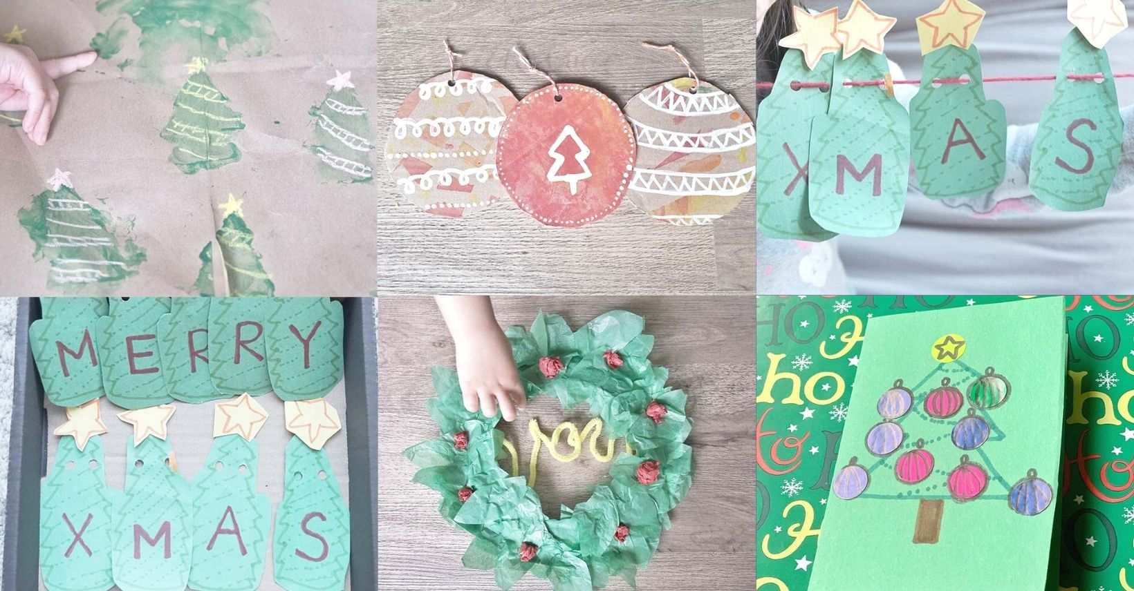 5 Easy Christmas Crafts for Grandparents from Toddlers