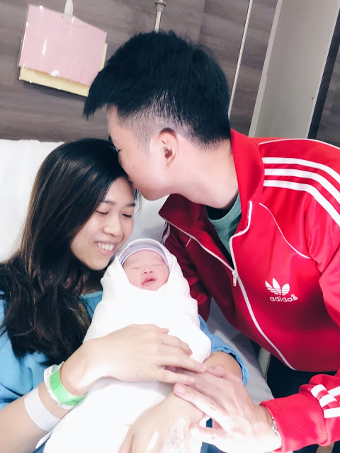 Jaylene Birth Story Childbirth Natural Delivery Motherhood Adorable Baby Husband Kiss Wife