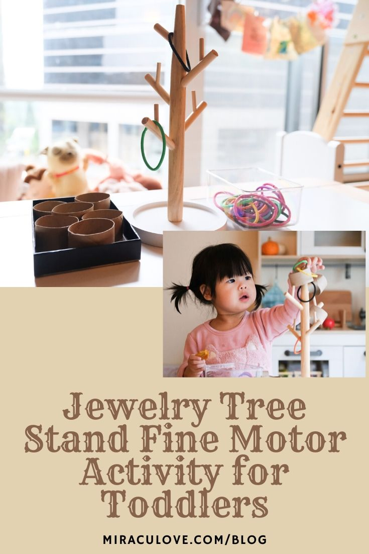 Jewelry Tree Stand Fine Motor Activity for Babies & Toddlers