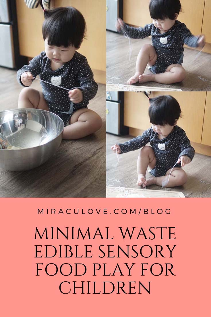 Minimal Waste Edible Sensory Food Play for Children