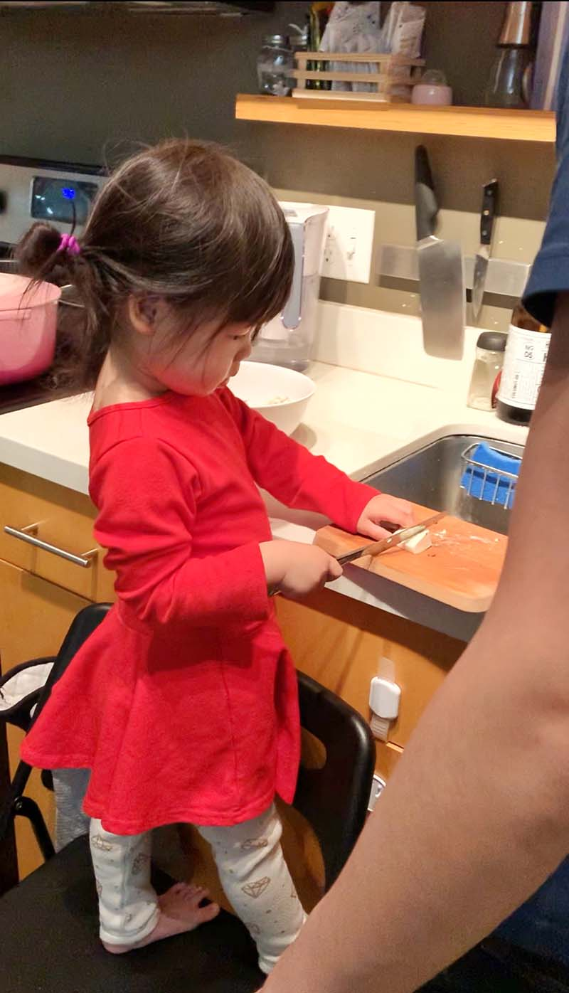 10 Easy Recipes for Montessori Toddlers in the Kitchen Montessori Stool Kitchen Helper
