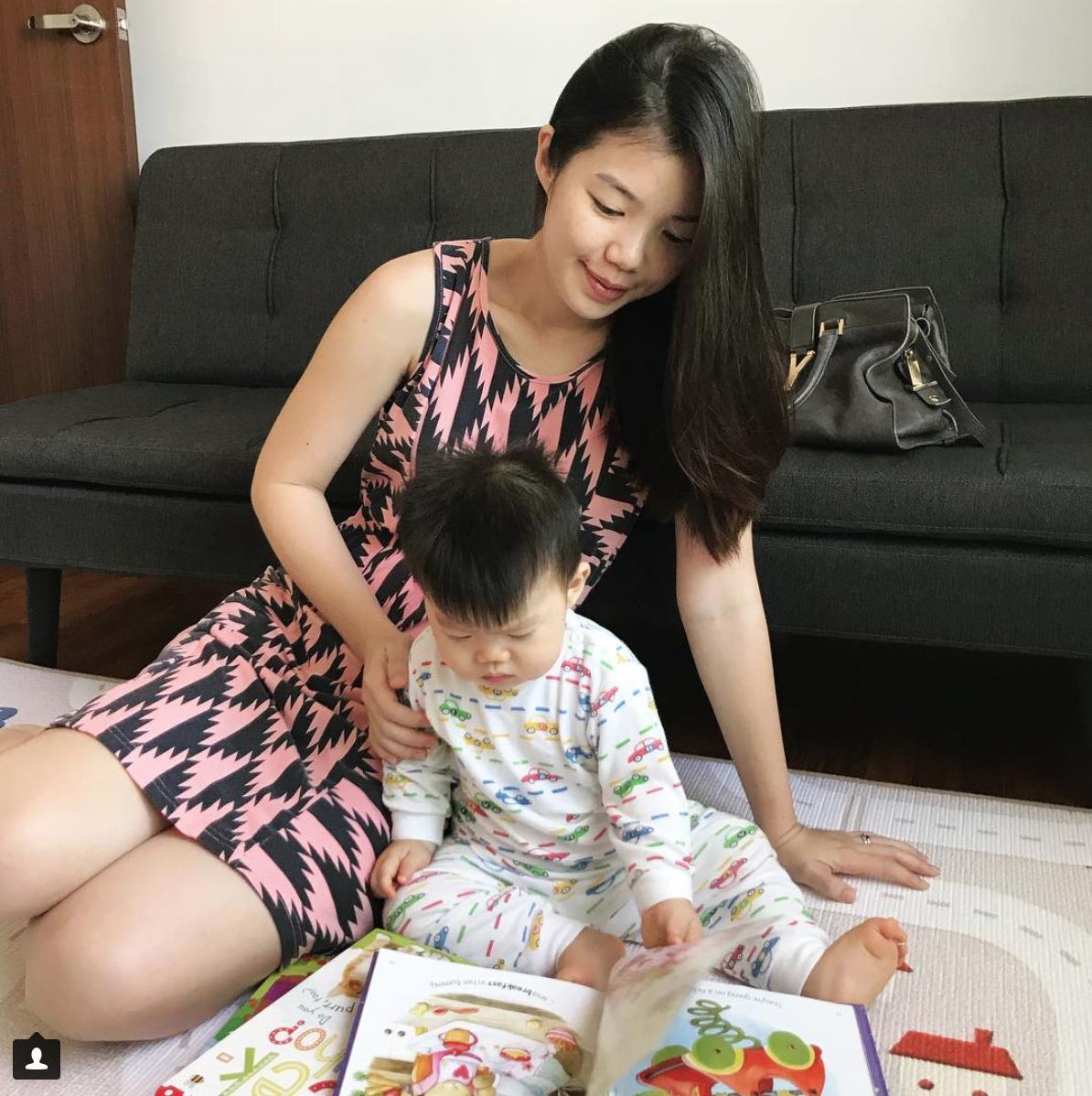 WFHM bonding with son baby activity