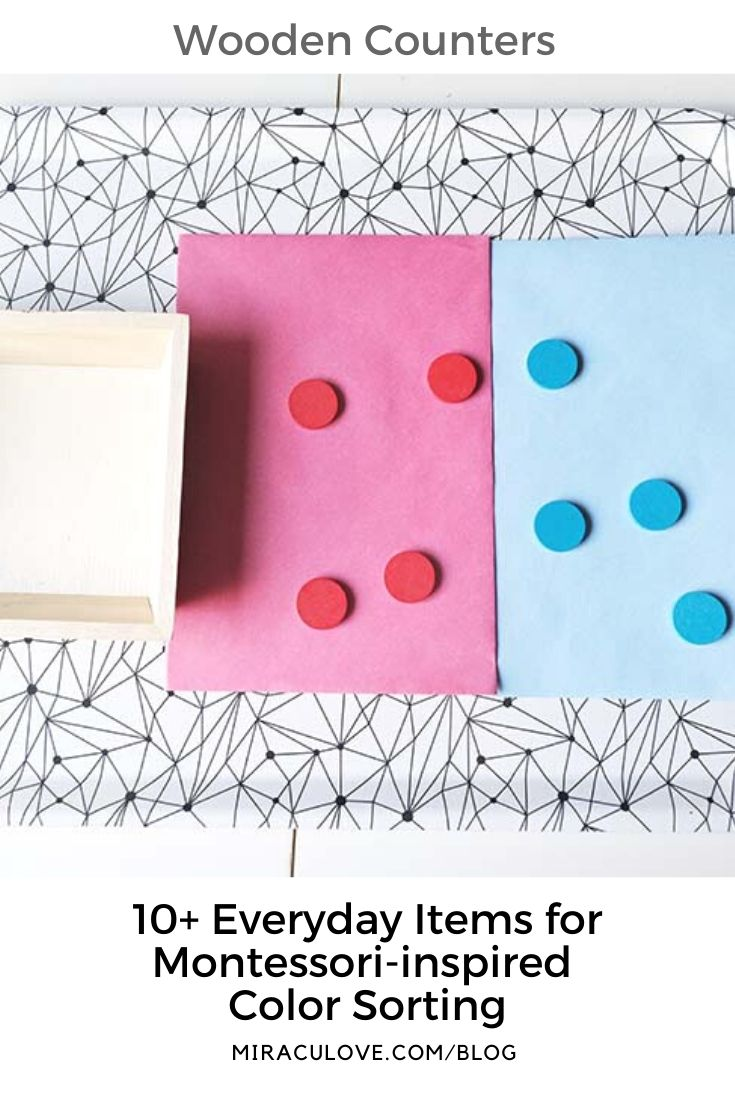 10+ Everyday Items for Montessori-inspired Color Sorting