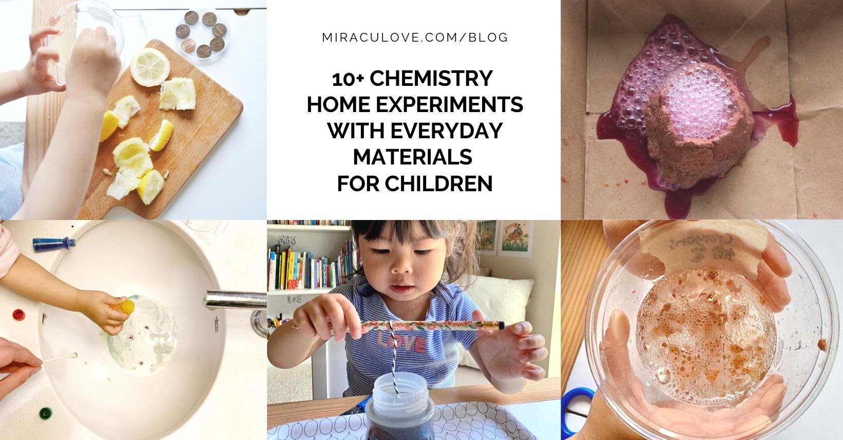 10+ Chemistry Home Experiments with Everyday Materials for Children