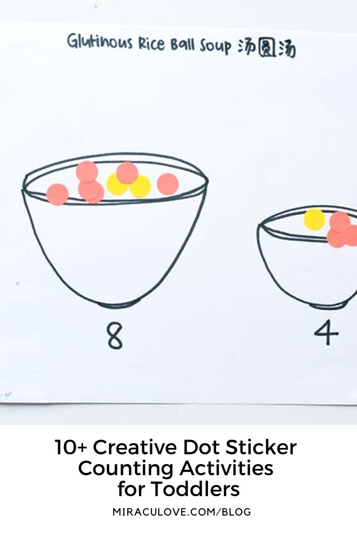 10+ Creative Dot Sticker Counting Activities for Toddlers