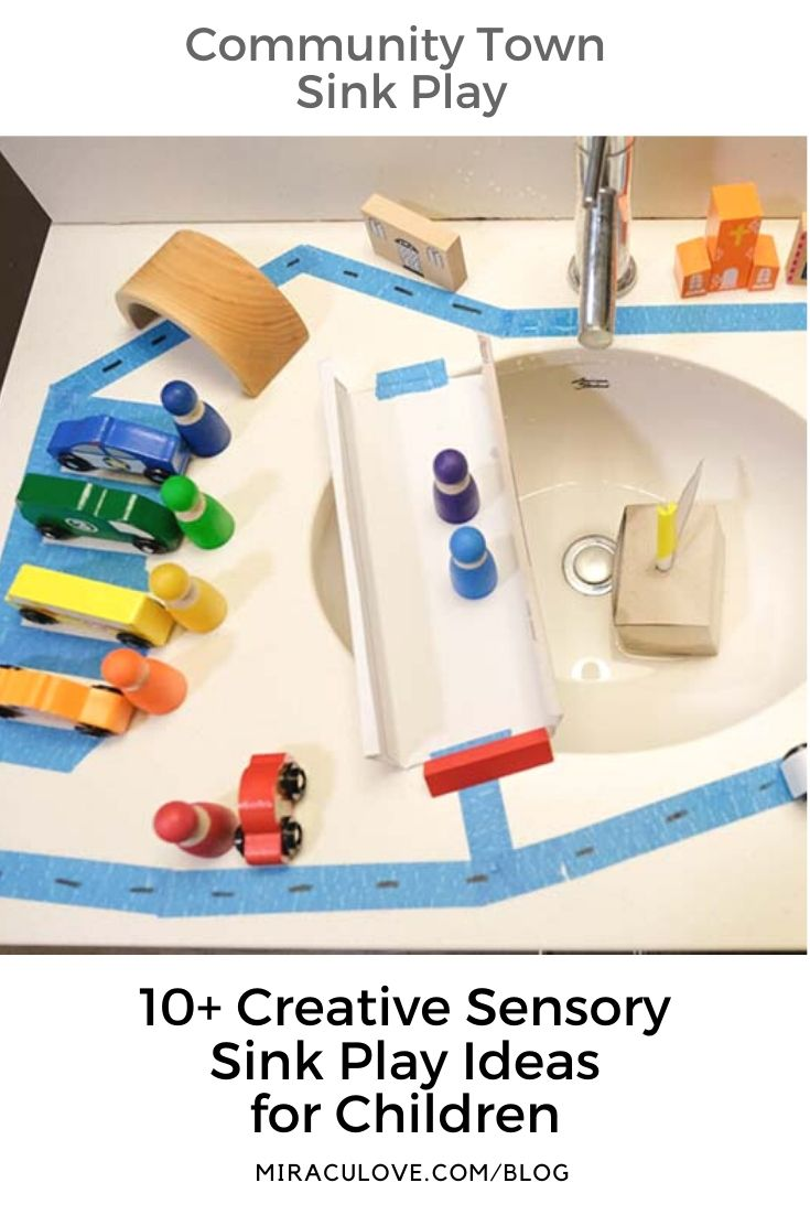 10+ Sensory Small Worlds in the Bathroom Sink for Children