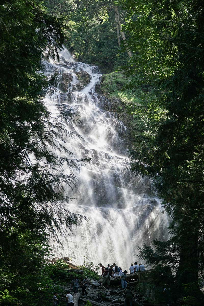 Bridal Veil Waterfalls Hike with Young Toddler in Chiliwack, British Columbia, Canada