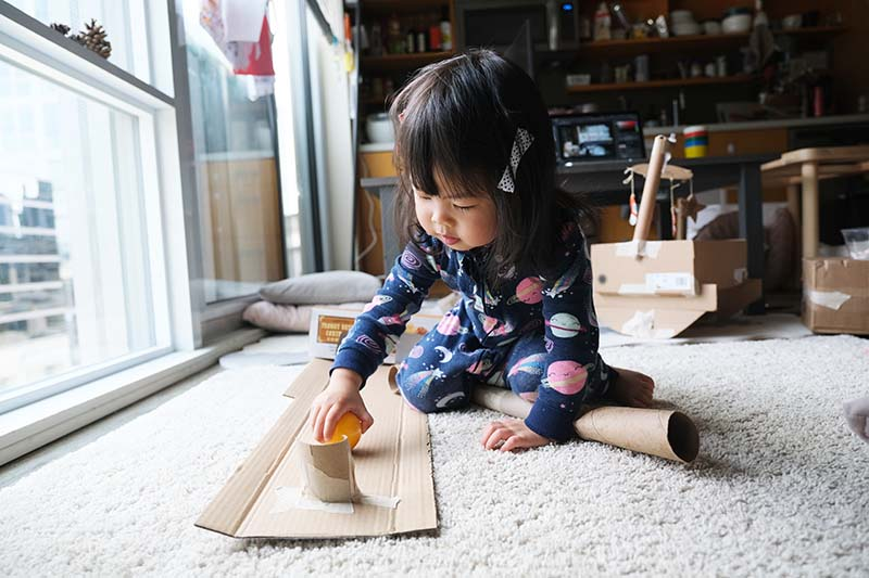 10+ Open Ended Toddler Toys to DIY from Cardboard Cash Register