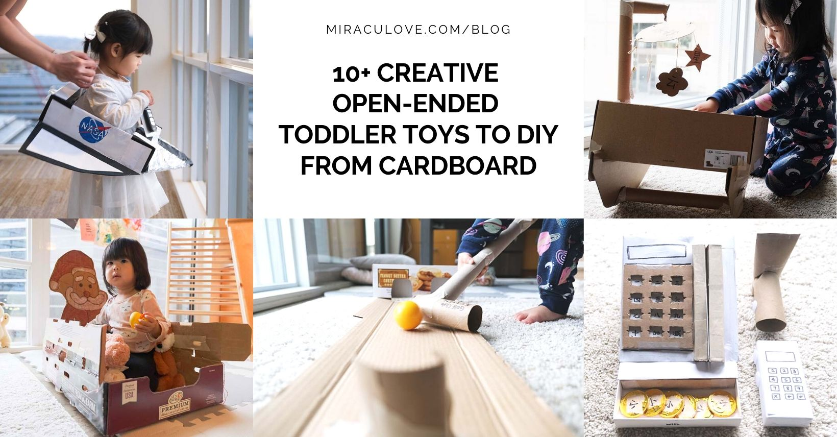 10+ Creative Open Ended Toddler Toys to DIY from Cardboard