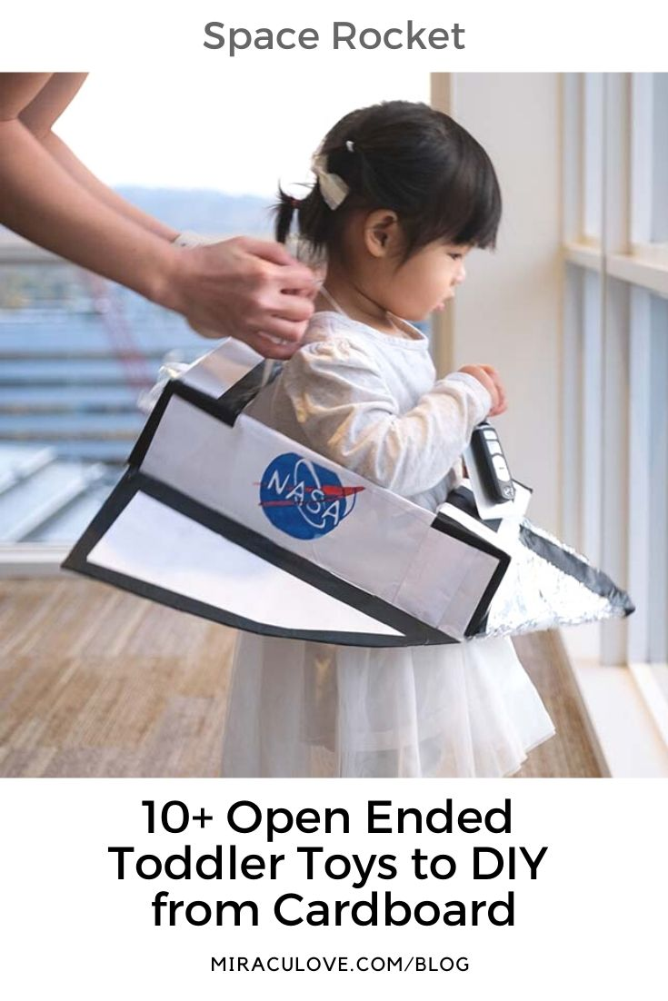 10+ Open Ended Toddler Toys to DIY from Cardboard