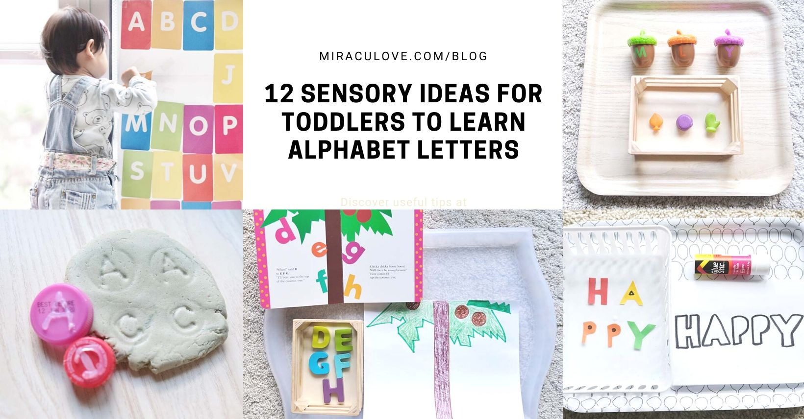 12 Fun Sensory Activities for Toddlers to Learn Alphabet Letters