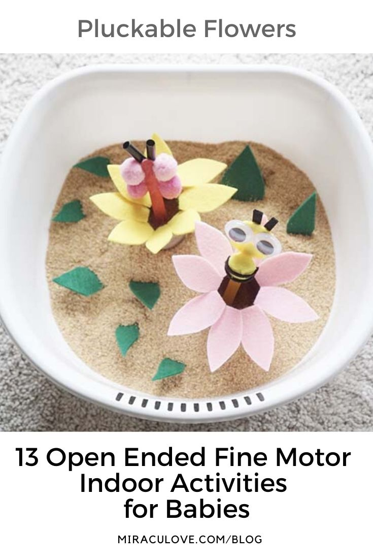 13 Open Ended Fine Motor Activities for Babies