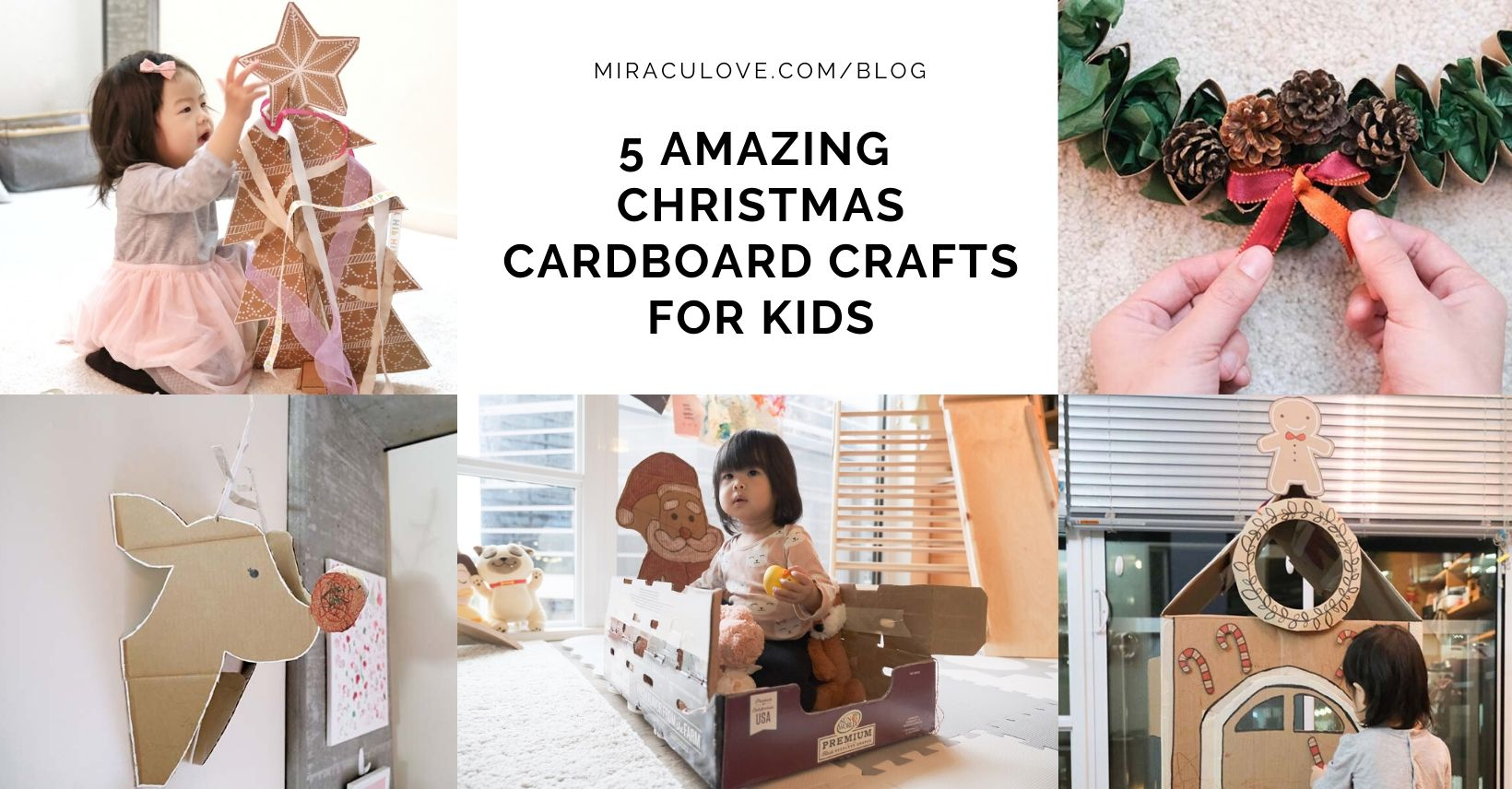 5 Amazing DIY Christmas Cardboard Crafts for Kids