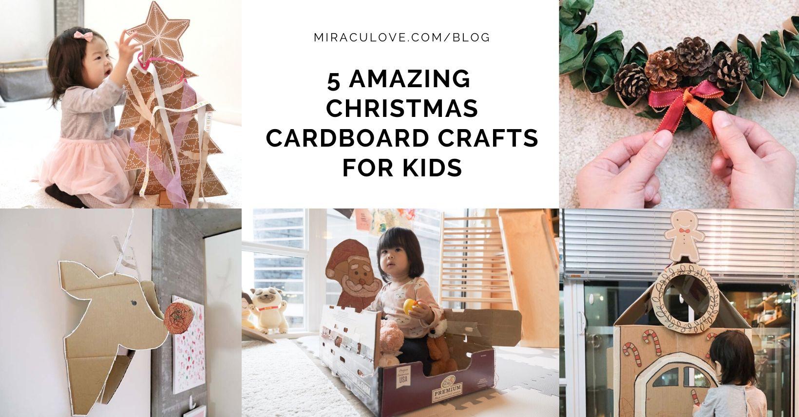 5 Amazing DIY Christmas Cardboard Crafts for Kids