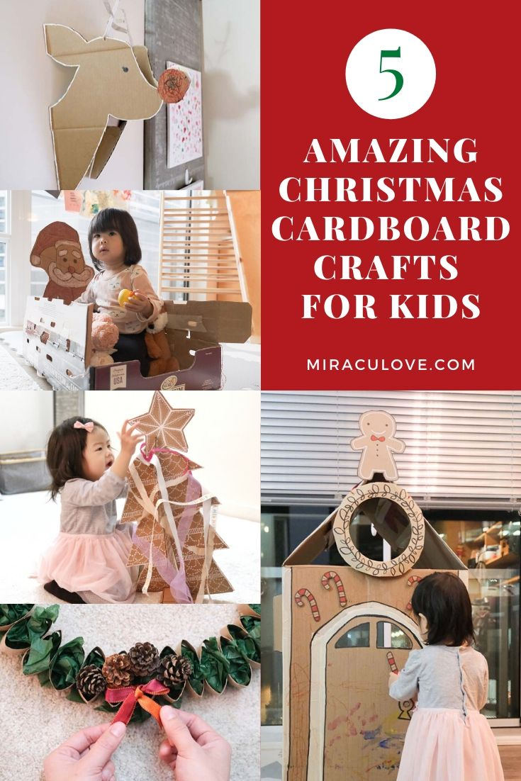 DIY Life Size Cardboard Santa Sleigh for Toddlers to Ride