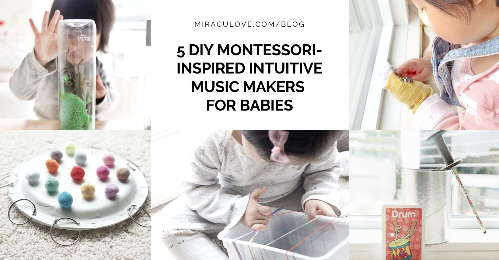 5 DIY Montessori Inspired Intuitive Music Makers for Babies