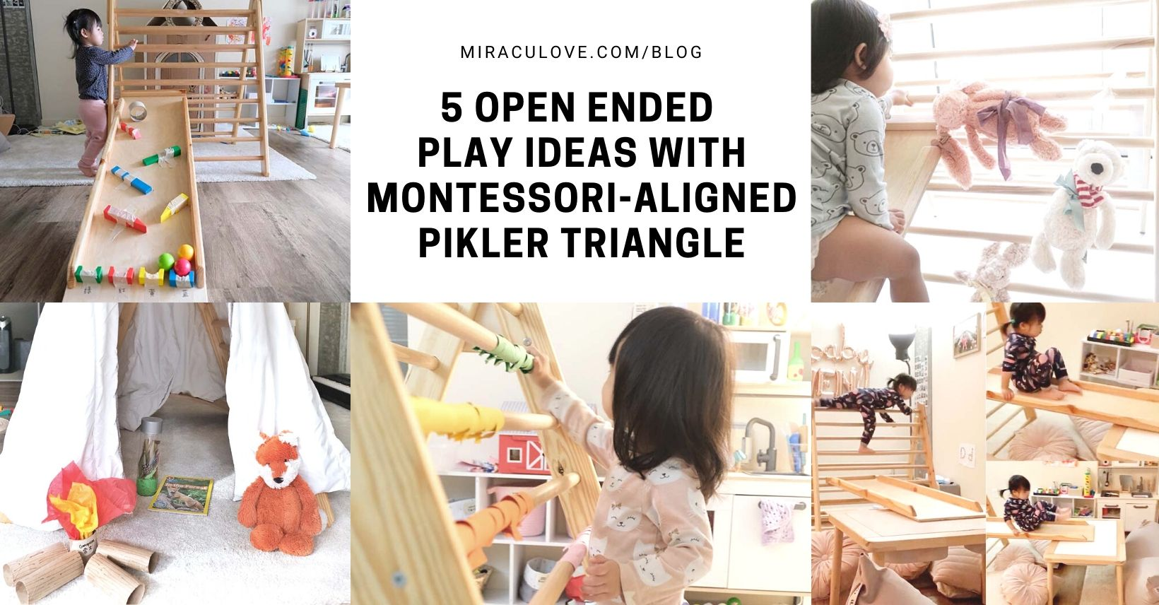 5 Open Ended Play Ideas with Montessori Aligned Pikler Triangle