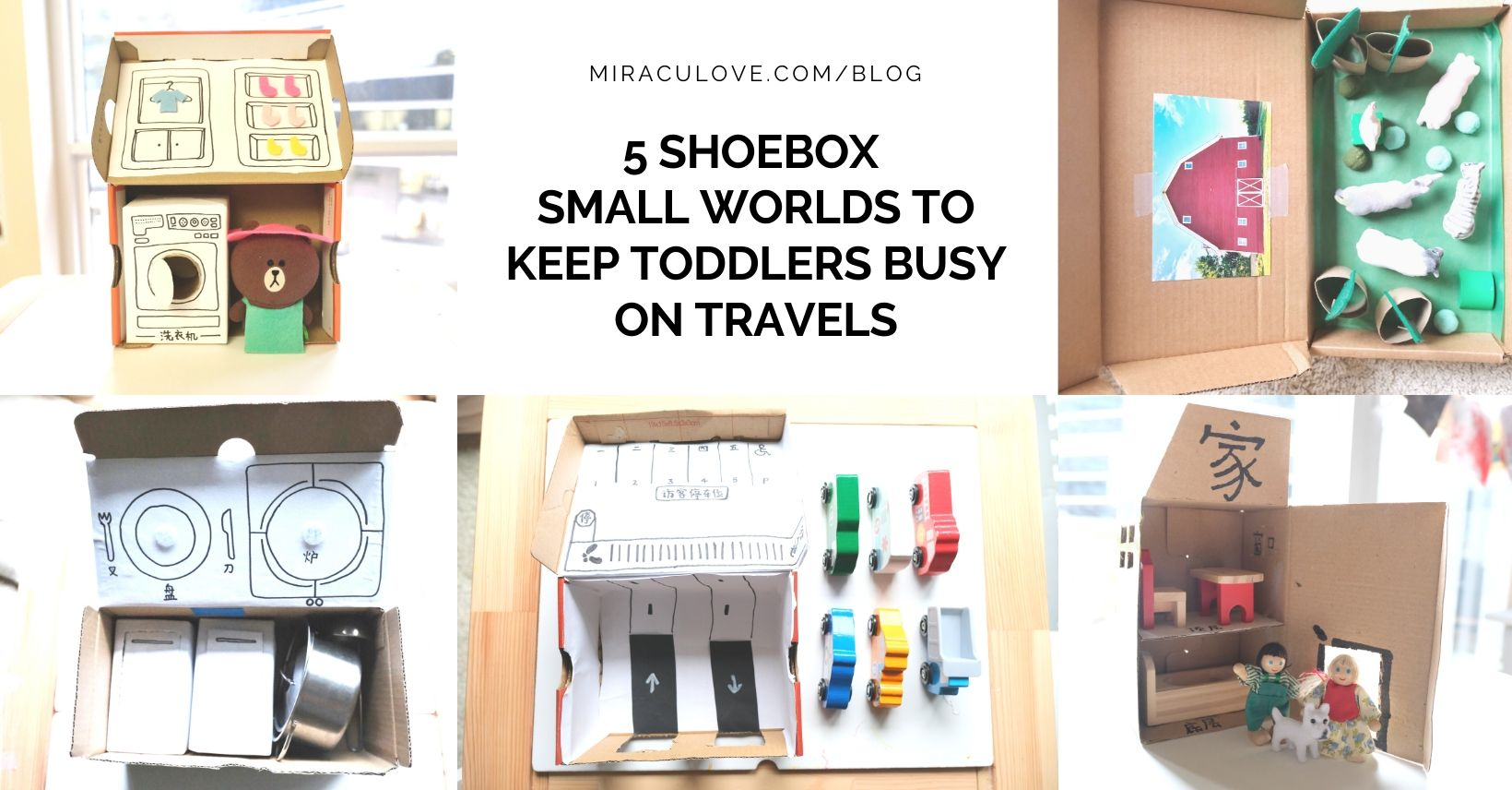 5 Engaging Shoebox Sized Busy Boxes for Toddler Travel