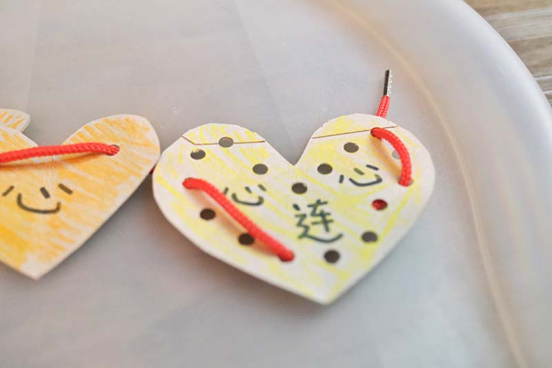 6 Valentines Day Montessori Inspired Tray Activities for Chinese Toddlers