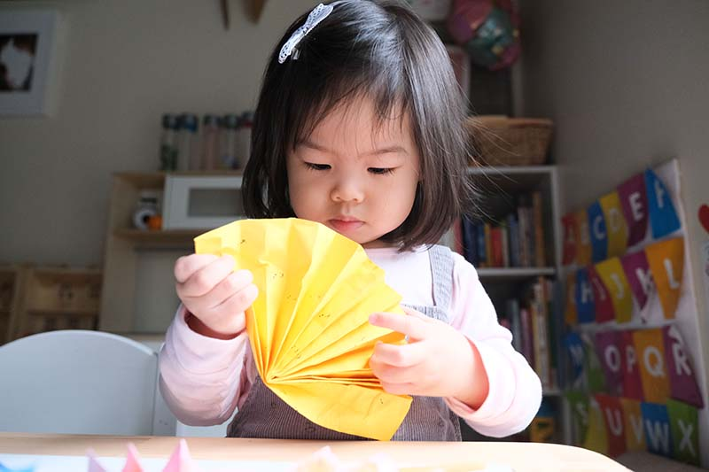Adorable Chinese Paper Fan Craft Toddler Art
