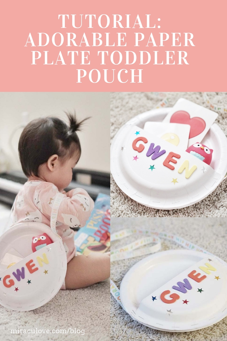 Adorable Paper Plate Toddler Pouch