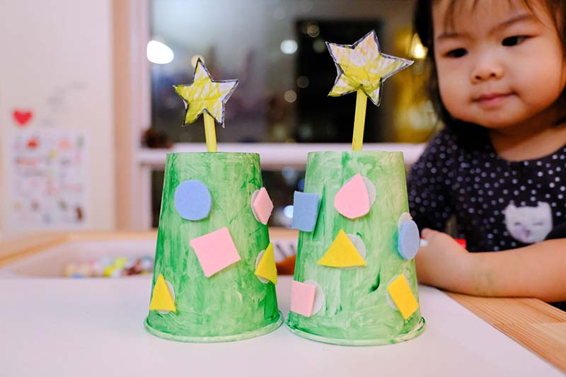 Christmas Tree Fine Motor Activity for Young Toddlers