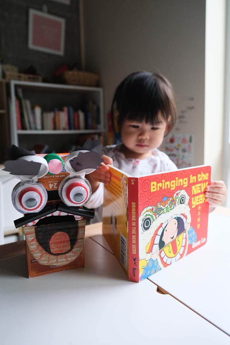 Chinese Lion Dance Puppet Craft for Toddlers