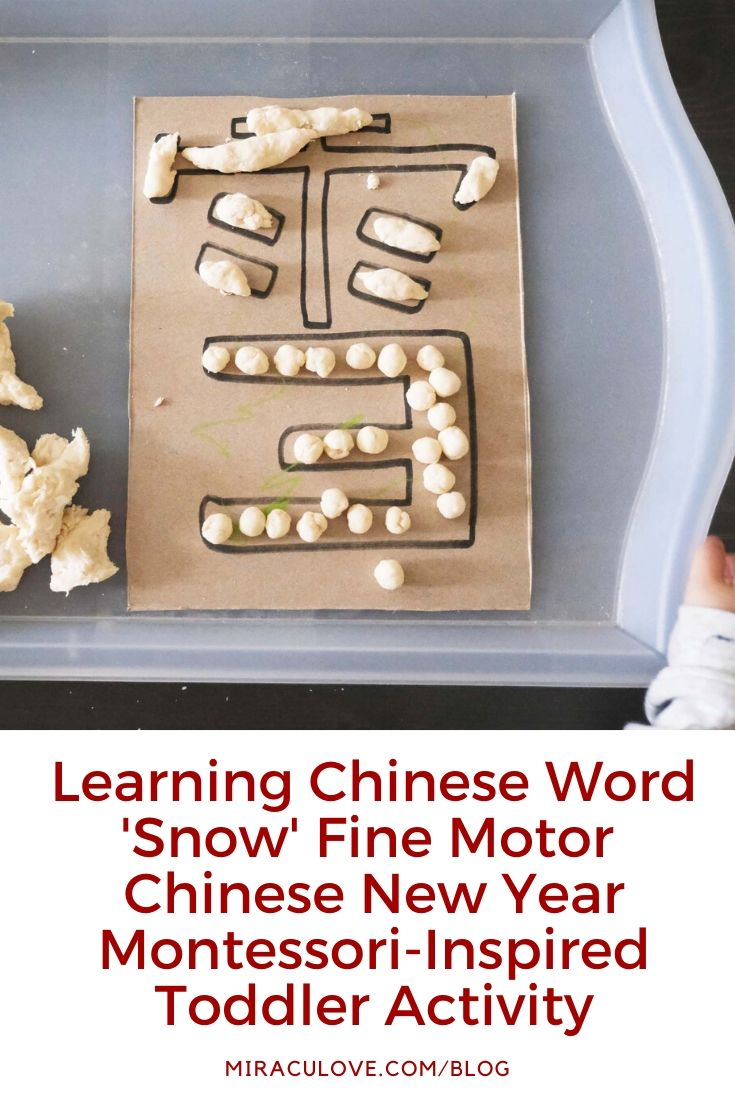 Chinese New Year Montessori-Inspired Tray Activities for Toddlers