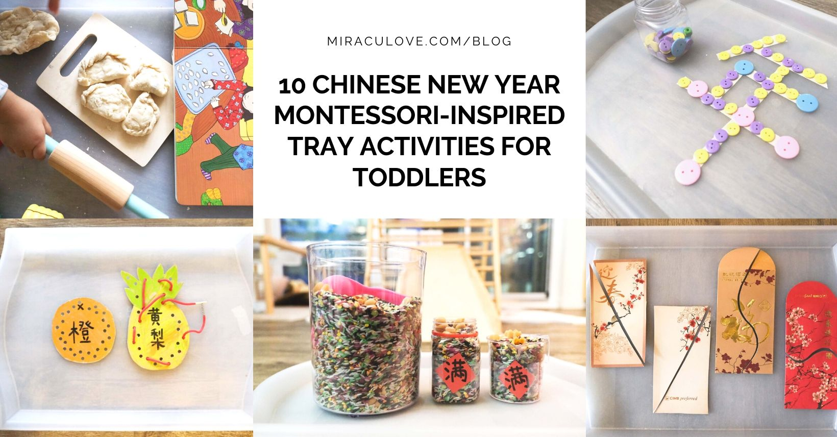 10 Chinese New Year Montessori-Inspired Tray Activities for Toddlers