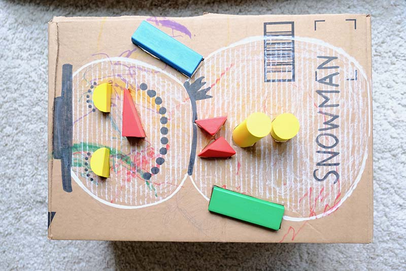 Christmas Themed Shape Sorter Cardboard Toy for Toddlers