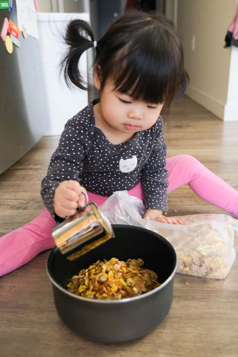Cornflake Chinese New Year Cookie Making with Toddler