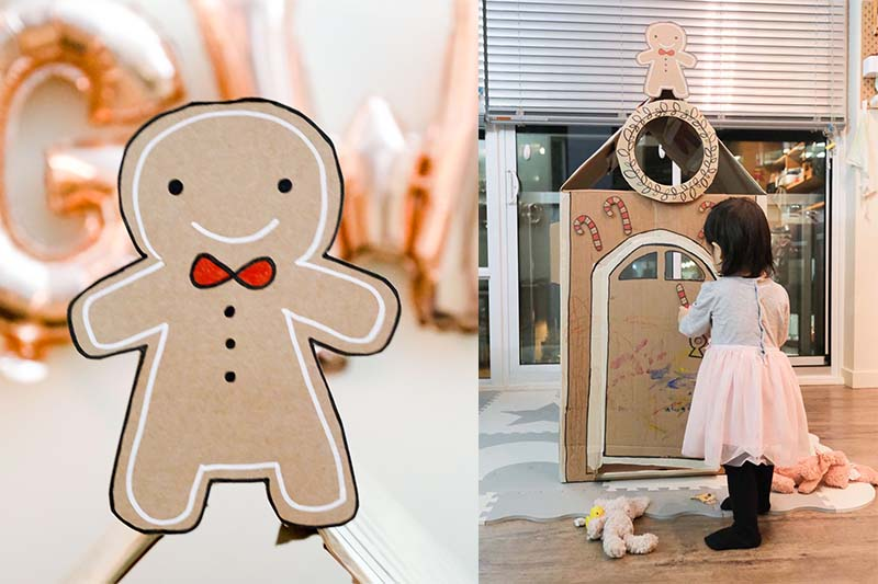DIY Life-size Gingerbread Man House for Kids