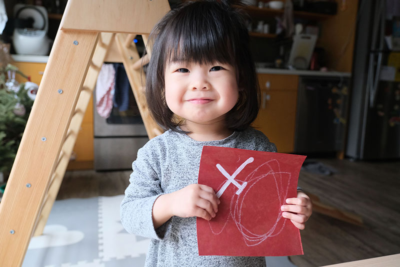 Crafting Chinese New Year Banners With Toddler
