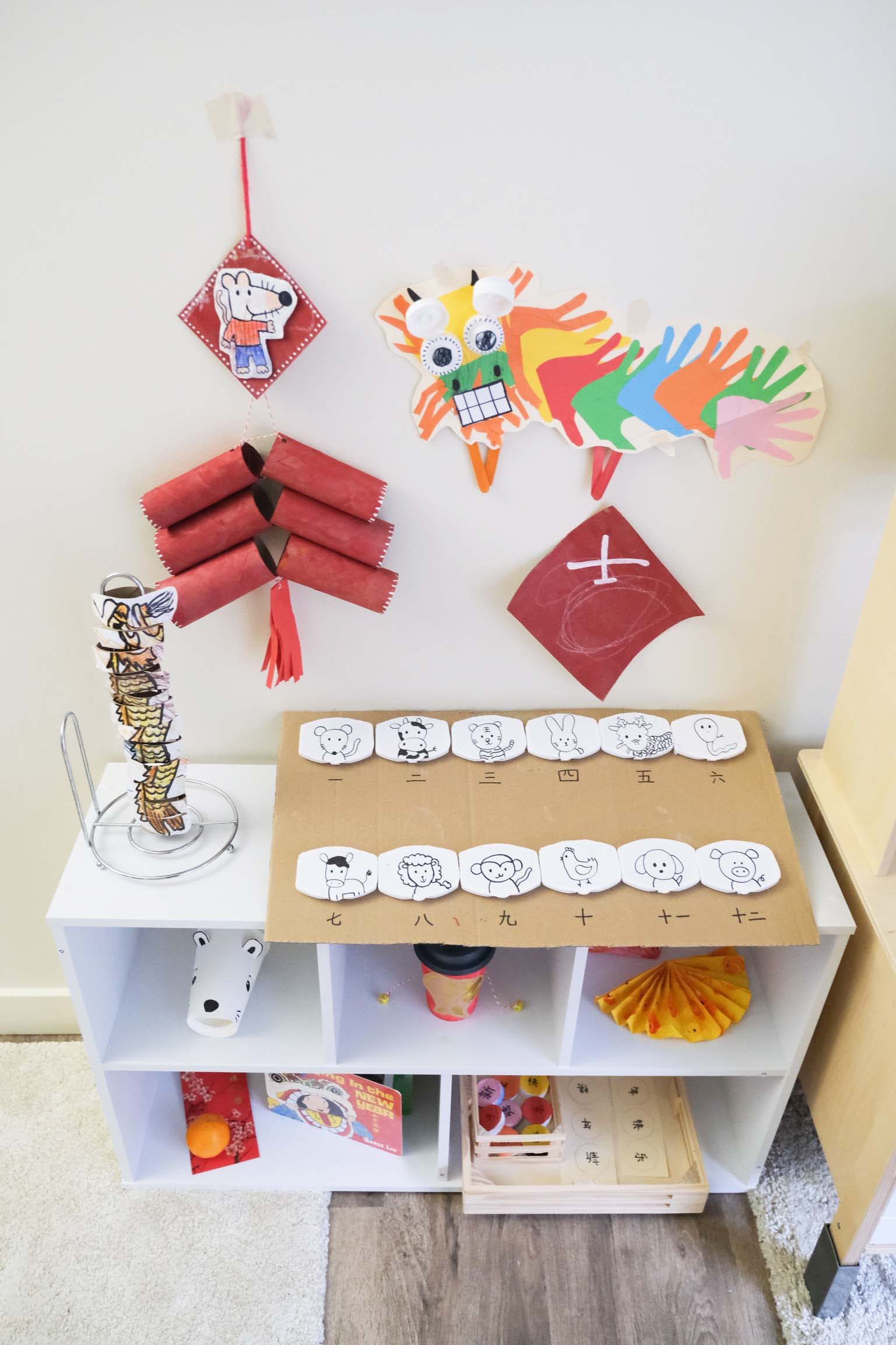 DIY Chinese New Year Firecracker Toddler Craft