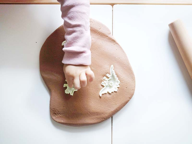 DIY Dinosaur Fossil Dough Play for Toddlers
