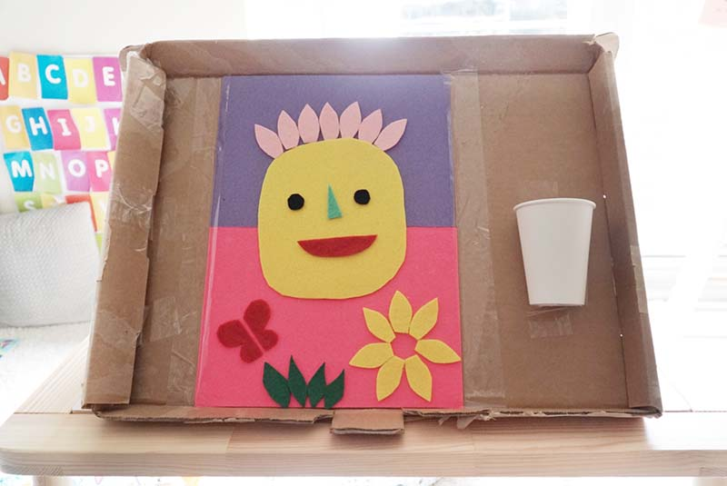 DIY Felt Teaching Board for Learning Toddlers