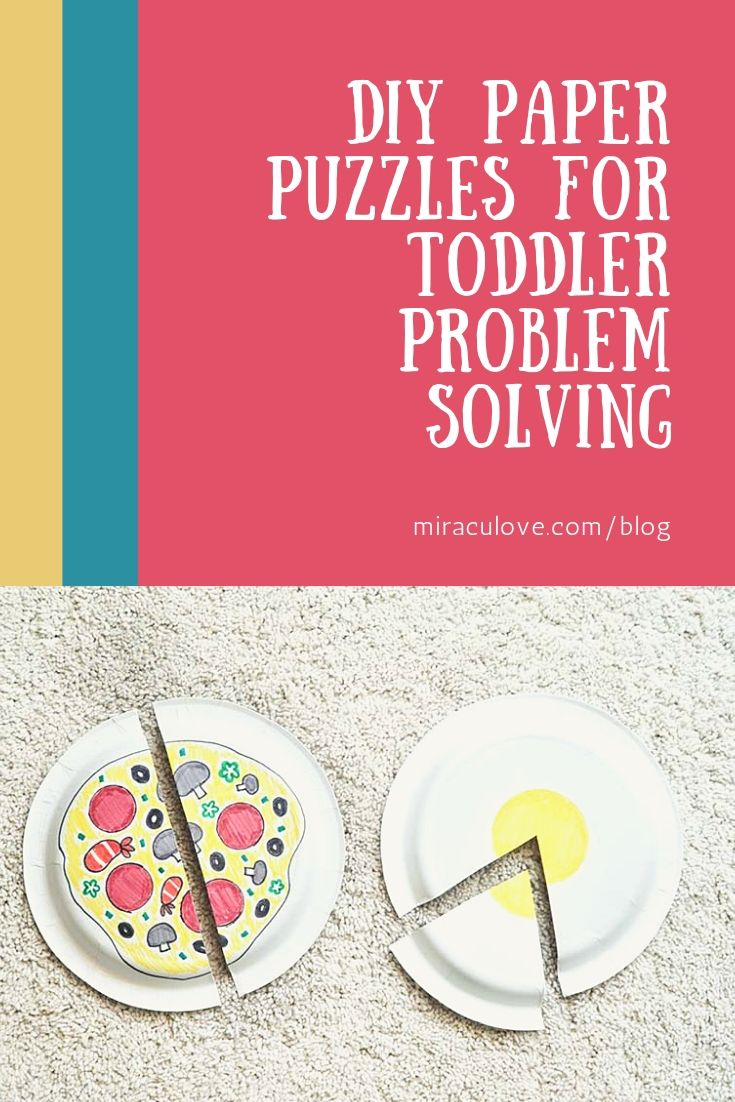 DIY Paper Puzzles for Toddler Problem Solving